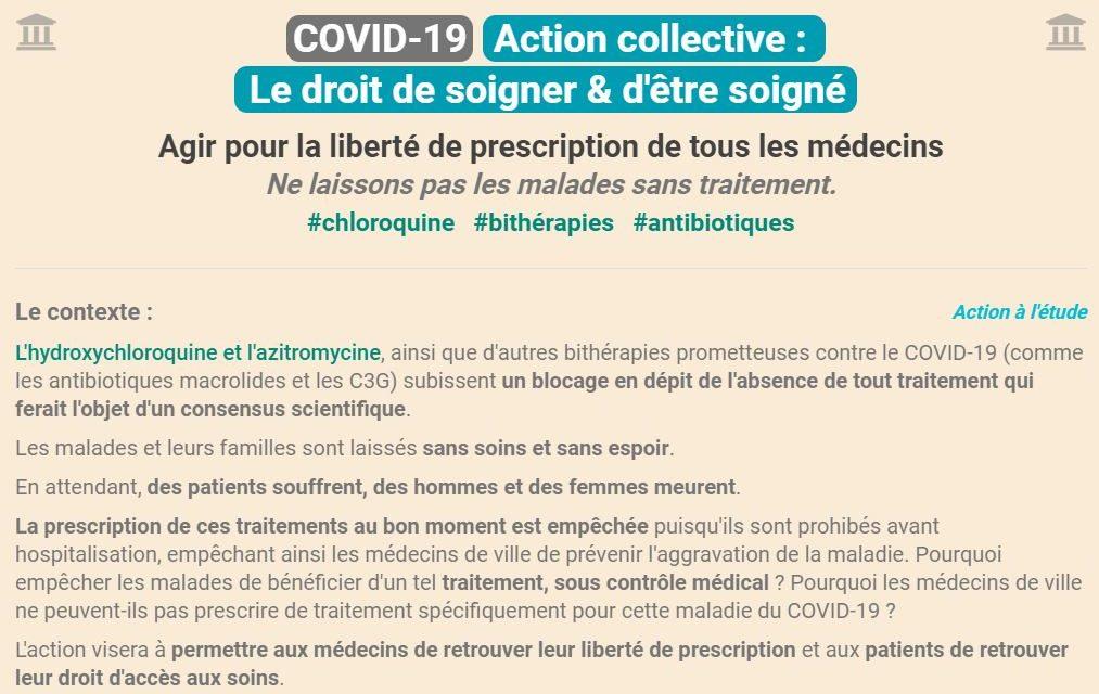 #CORONAVIRUS – #COVID-19 #NoublionsRien – Le droit de soigner & d'être soigné / Participez à cette action collective inscrivez-vous