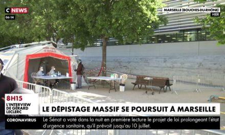 #CORONAVIRUS : LE DÉPISTAGE MASSIF SE POURSUIT À MARSEILLE