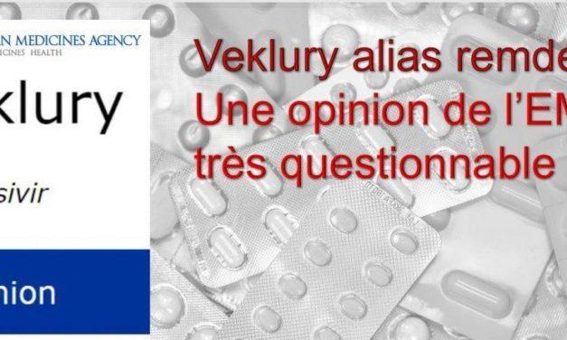 Remdésivir : l'Agence Européenne du Médicament met-elle en danger notre santé?