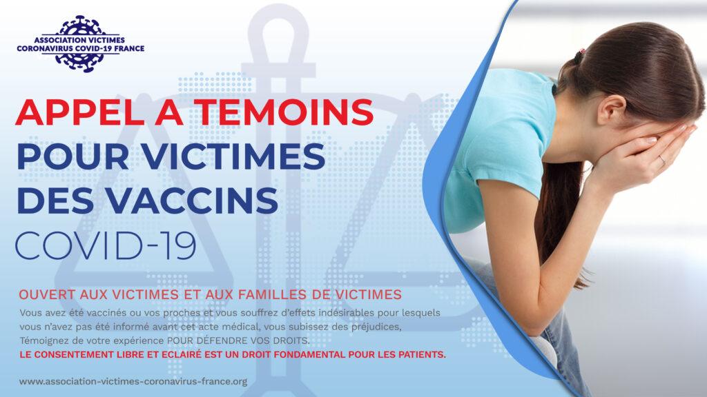 Appel a temoin pour victimes des vaccins